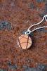 Halsband läder/silver 20mm