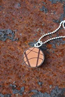 Halsband läder/silver 20mm -