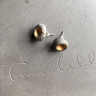 Örhängen RAW Gold Concrete -
