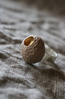 Ring Raw gold soft pink