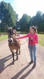 Amber lånas av Johanna Zetterberg som sällskap i vårt stall. En härlig individ :) !!
