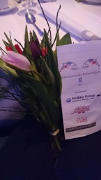Stolt tränare fick blommor :)