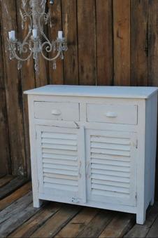 Skänk vit, med lådor. H92cm
