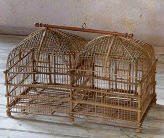 Fågelbur i bambu.