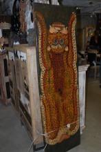 Målning på antikt trä