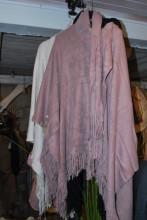 Poncho med halsduk