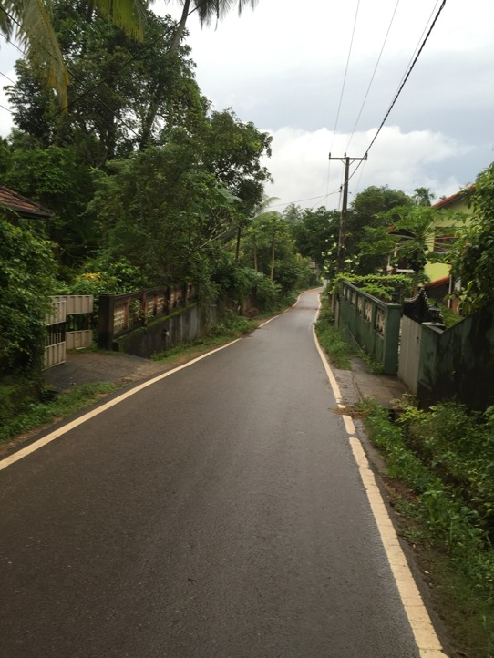 En promenad i ett lugnt område i närheten.