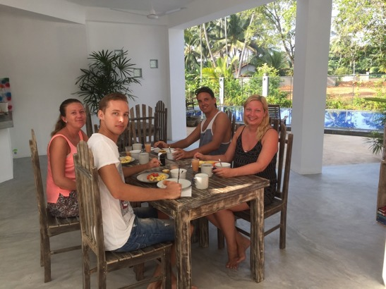 Frukost på Jippie the villa