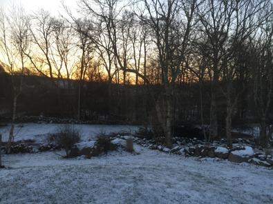 Hemma i härliga vinterSverige, -8 grader.