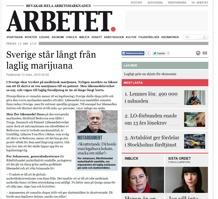 Sverige står långt från laglig marijuana