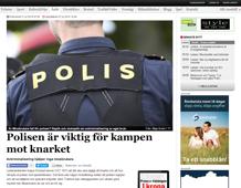 Polisen är viktig för kampen mot knarket
