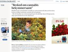 Besked om cannabis bekymmersamt