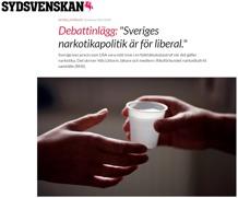 Sveriges narkotikapolitik är för liberal