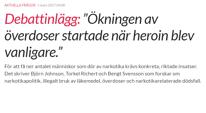 Sydsvenskan 1 mars - Björn Johnson, Torkel Richert, Bengt Svensson