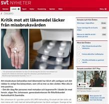 Kritik mot att läkemedel läcker från missbruksvården