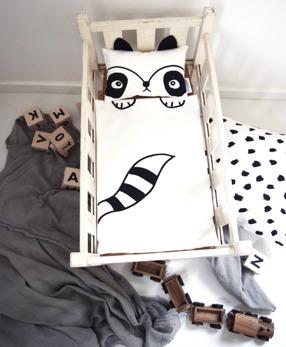 Raccoon doll bedding
