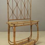 Blombord med spaljé, rotting/glas