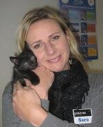 Sara med kattungen Kaluha på Kattens Dag 2010