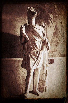 Statue of Anubis in the Vatican Museum.