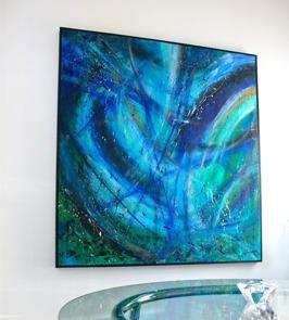 DeepBlue 120x120cm