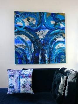 BluePassion 110x110cm