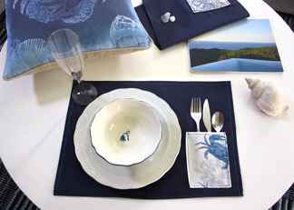 Blue sea placemats