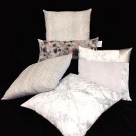 Silver & grey pillows