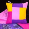 Colorful picknick, pillow & quilt