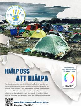 Team Sweden Volunteers affisch Nr 1, A5-format (förhandsgranskning)