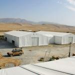 Montage av väderskydd Gibson i Afganistan (Hallbyggarna-Jonsereds AB)