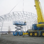 Montage av stomme Arctic-hall (Renthall)