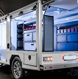 Truck with extra applications installed