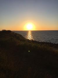 Solnedgång vid paddling Nynäshamn