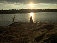Solnedgång söder om Nynäshamn