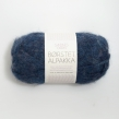 Borstad Alpakka - 6060 - Inkblå