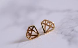 Örhängen - Guld Diamant