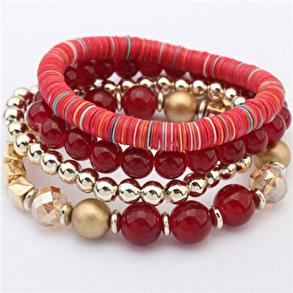 Hårsmycke/Armband - Röd