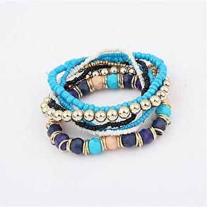 Hårsmycke/Armband - Multi/blå