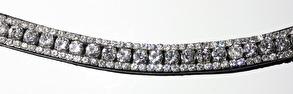 Pannband Kandar - Pannband - svart läder Kandar