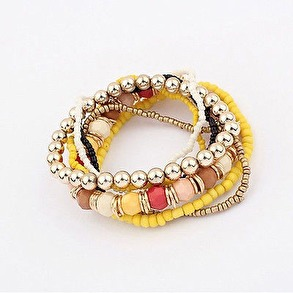 Hårsmycke/Armband - Multi/gul