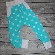 Mintgrön/mintblå med vita stjärnor 116