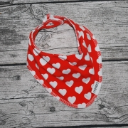 Röd med vita hjärtan EKO
