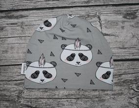 Gråa pandahvuden 48/50 GOTS - Pandahuvud GOTS