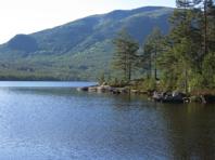Fjället Bukollen i naturområdet Vassfaret i Norge där stenen kommer ifrån. Bild från www.geocaching.com/Buvatnet Paradise.