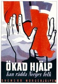Affischen är gjord av konstnären och reklamtecknaren Anders Beckman. Han grundade Beckmans reklam- och designskola i Stockholm 1939. Beckmans engagemang mot Nazi-Tysklands ockupation av Norge var särskilt starkt eftersom modern, Magdalena Faye-Hansen, var från Norge. Han hade även likasinnade vänner i Sverige, t.ex. den norske motståndsmannen och kulturpersonen Thorolf Elster.