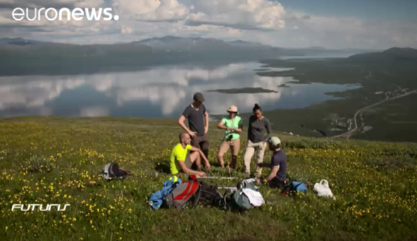 Picture from EuroNews documentary about Abisko Scientific Research Station