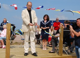 BryggCaféet invigdes på Nationaldagen 2010 av Borgmästaren Carl Fredrik Graf