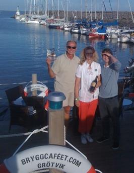 """Tack Ulrika """"Bokgudinnan"""" Larsson & författaren Christer Carlsson"""