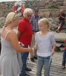 Lovisa, seglingsassistent får diplom