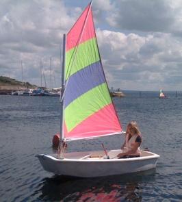 Linnea på väg att angöra efter väl genomförd segling